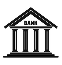 Bank icon simple style vector