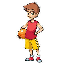 Basketball boy on white vector