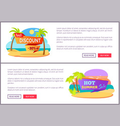 best discount only at summer online promotion vector image