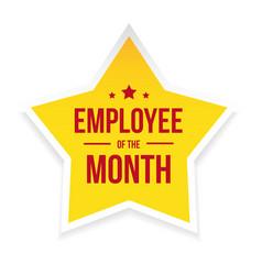 Best employee month award badge vector
