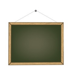 blank old chalkboard with wooden frame vector image