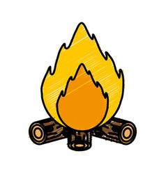 Bonfire icon image vector