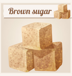 brown sugar detailed icon vector image