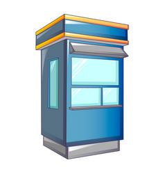 Cabine street shop icon cartoon style vector