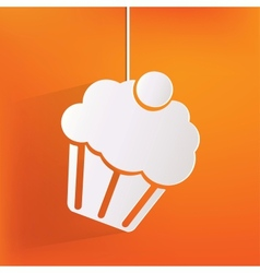 Cake web icon vector
