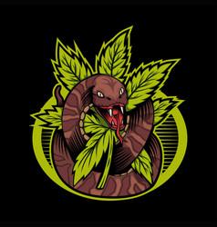 Cannabis snake vector