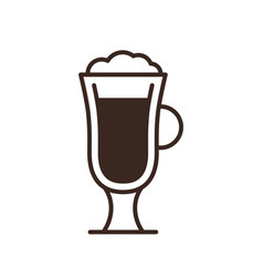 cappuccino glass isolated linear icon vector image