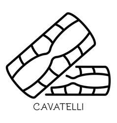 Cavatelli pasta icon outline style vector