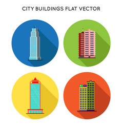 cityscape flat style city buildings modern big vector image