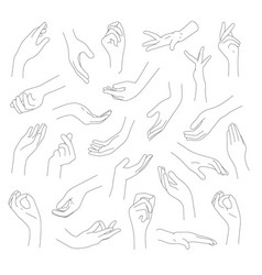 Collection hands and fingers vector