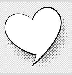 comic speech heart cartoon talking and thought vector image