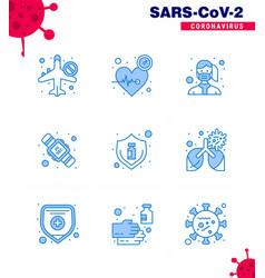 Corona virus 2019 and 2020 epidemic 9 blue icon vector