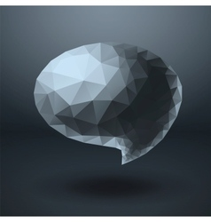 Crystal shapes speech bubble vector image