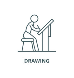 drawing line icon linear concept outline vector image