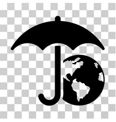 Earth umbrella icon vector
