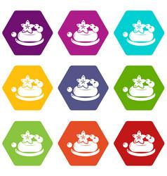 eco spa soap icons set 9 vector image