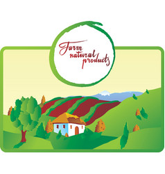 Farm natural products vector
