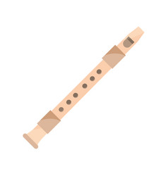 Flute wind musical instrument isolated icon vector