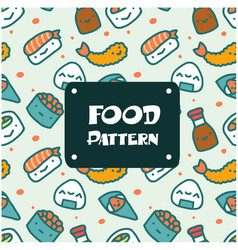 food pattern sushi background image vector image