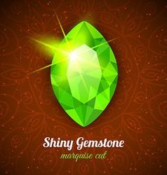 Gemstone on dark background vector image