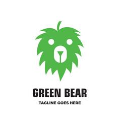 green bear logo vector image