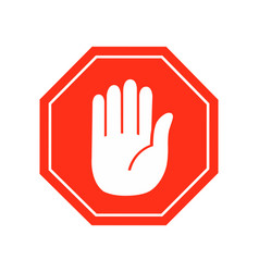 Hand stop icon sign symbol on white vector
