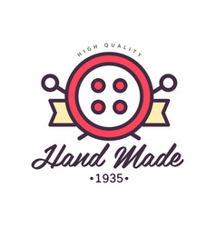 Handmade logo template since 1935 retro vector