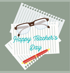 happy teachers day concept vector image