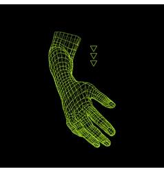 Human arm human hand model hand scanning vector