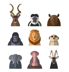 Icons of african animals1 vector image