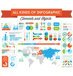 Infographics Elements and Objects Big Huge Set All vector image