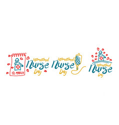 International nurse day template set vector