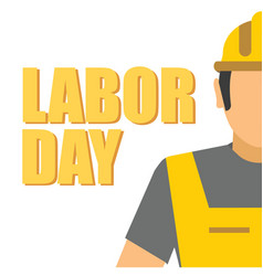 Labor day worker yellow background image vector