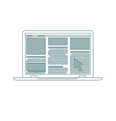 laptop flat icon computer symbol vector image