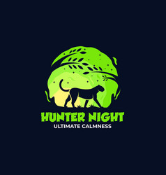 Logo leopard silhouette style vector