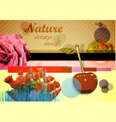mixed design elements vector image