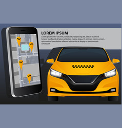 mobile application for ordering taxi vector image
