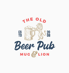 Old beer pub or bar abstract sign vector