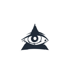 one eye triangle sign symbol vector image