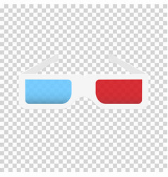 paper 3d glasses with red and blue lenses vector image