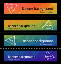 Polygonal abstract modern banner background vector