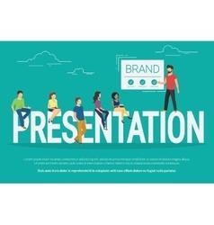 Presentation concept vector image
