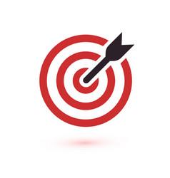 red aim arrow idea concept perfect hit winner vector image