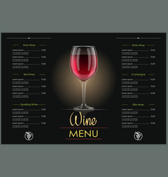 Red wine glass concept design vector