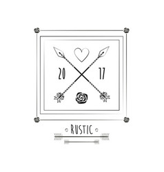 Rustic card date invitation ornate image vector