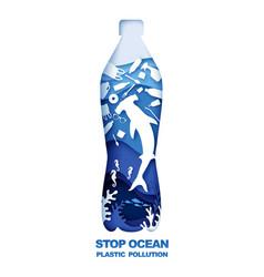 save ocean stop plastic pollution vector image