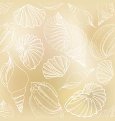 seashell seamless pattern summer holiday marine vector image