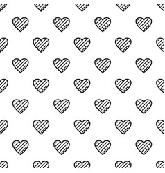 Simple heart pattern seamless vector