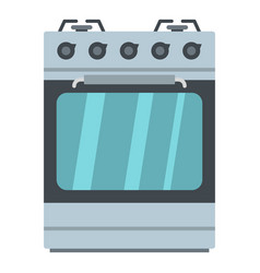 Small gas oven icon cartoon style vector