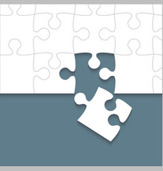 Some white puzzles pieces grey - jigsaw vector